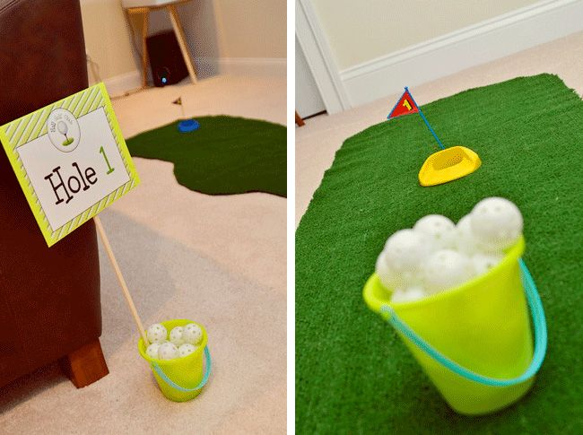 Golf party: Cormick is 2!