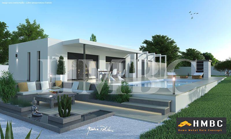 Maison contemporaine ossature metallique avie home for Constructeur maison acier