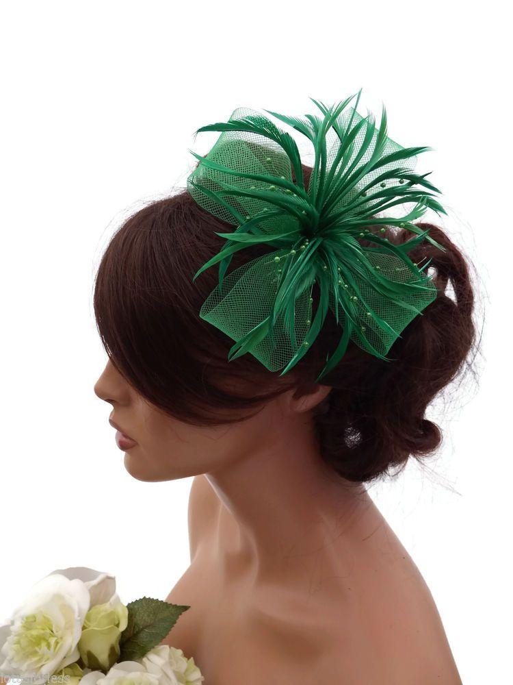 Black Cream Sinamay Feather Hair Fascinator Headband Races Cocktail Wedding 5440