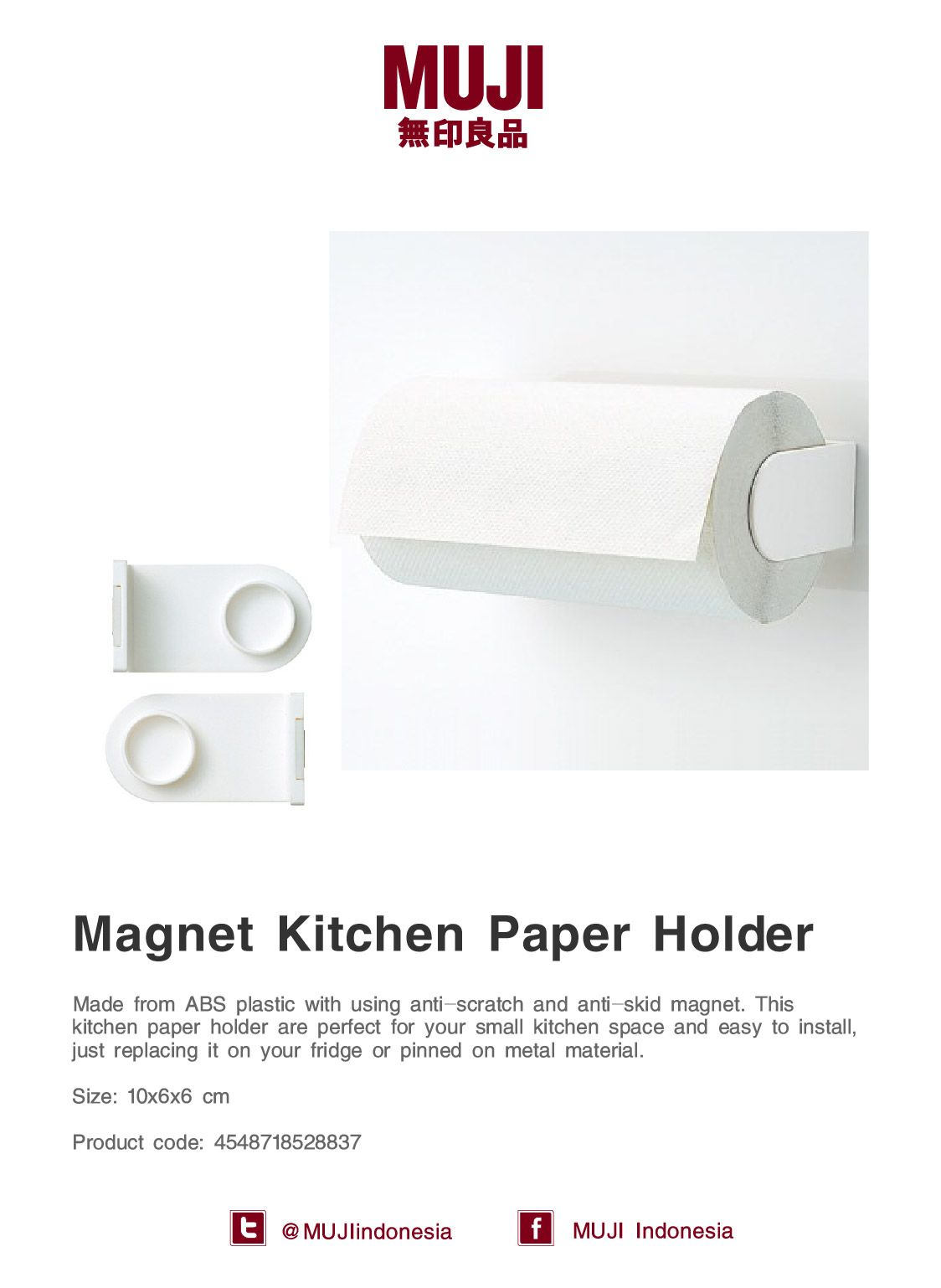 2f60bf9f0e  Magnet Kitchen Paper Holder  made from ABS plastic with anti-scratch    anti-skid magnet. Perfect for small kitchen.