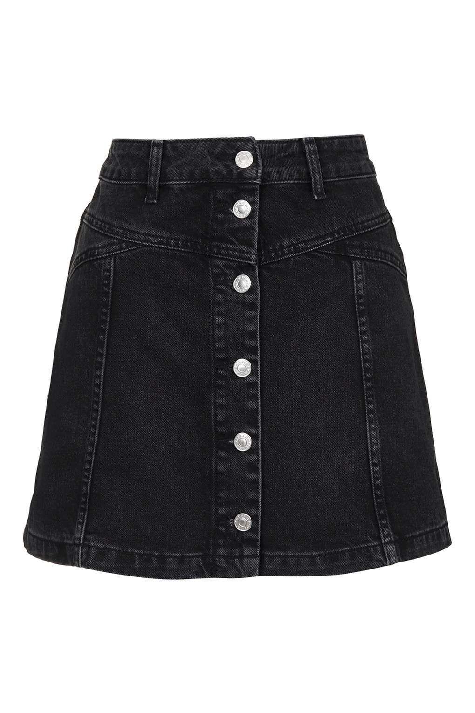 2d0540b07045 Petite Denim Mini Skirt Topshop