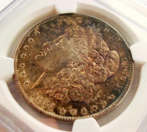 1881-S $1 Morgan Silver Dollar NGC MS64 Toned with Color! #001 NO RES AUCTION! https://t.co/n52CQVEbYQ https://t.co/v9qsJTbHz0