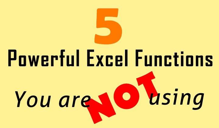5 powerful Excel functions you are not using Tutorials, Microsoft