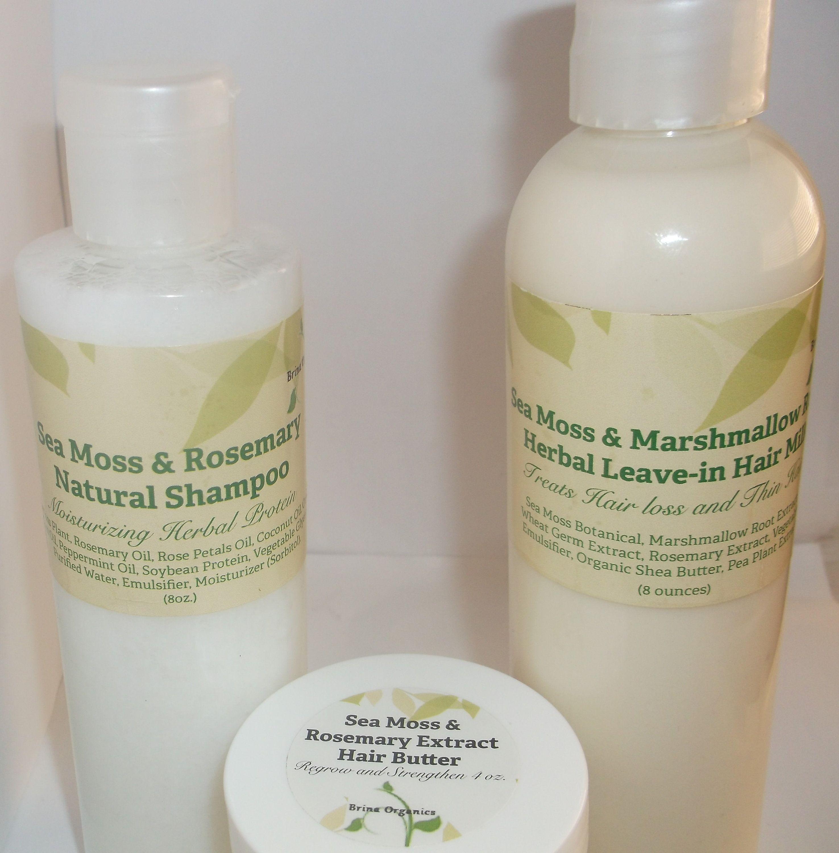 Sea Moss Hair Care Line Bundle 3 Step Natural Hair System Sea