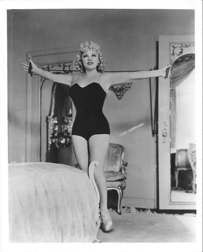 Mae West Exercising In Bathing Suit La Apartment From Estate Of