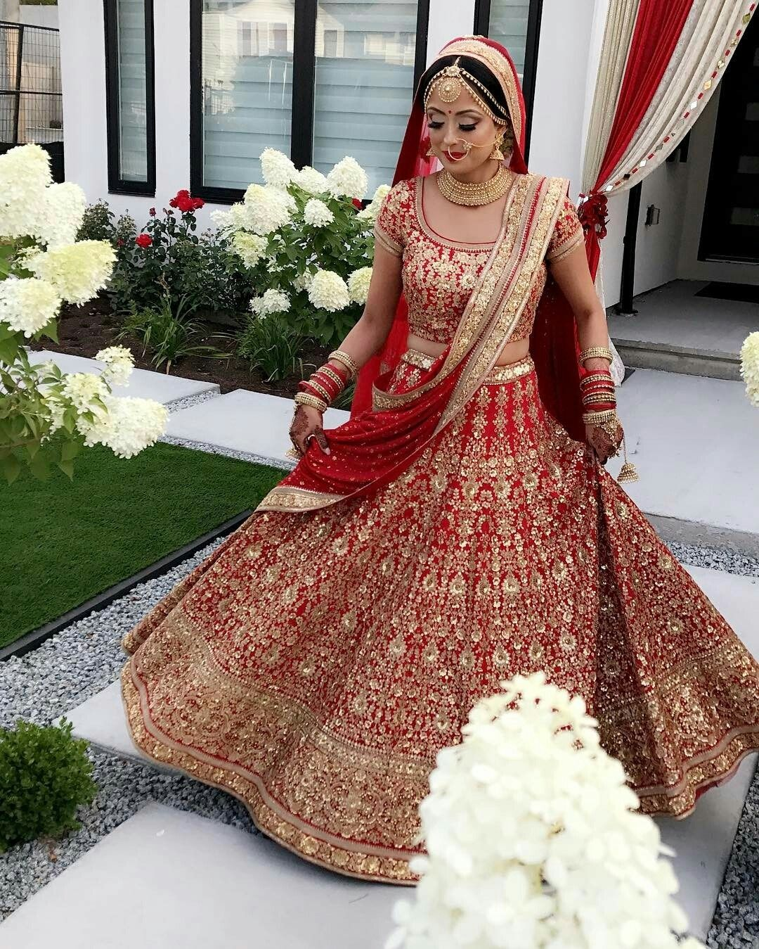 Pink Orchid Studio Bridal Lehenga Red Indian Bridal Outfits Indian Bridal Wear [ 1349 x 1080 Pixel ]