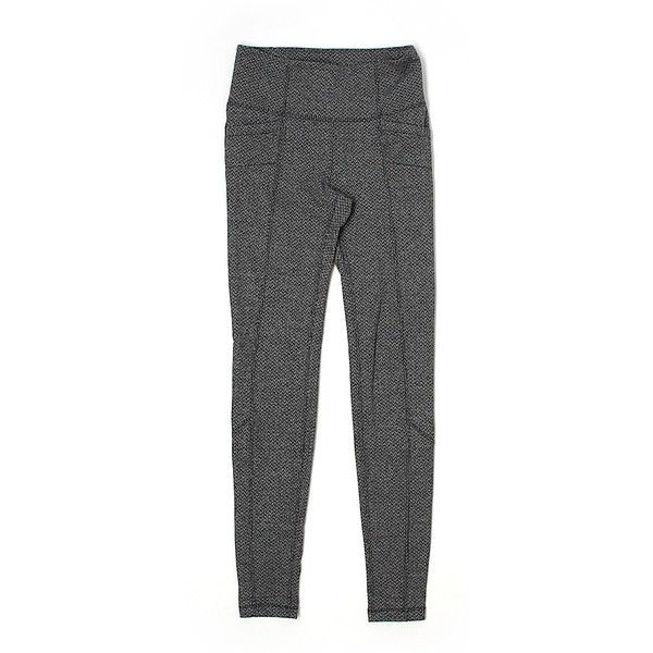 Pre-owned Athleta  Active Pants Size 0: Gray Women's Activewear (31 CAD) ❤ liked on Polyvore featuring activewear, activewear pants, grey, athleta sportswear and athleta