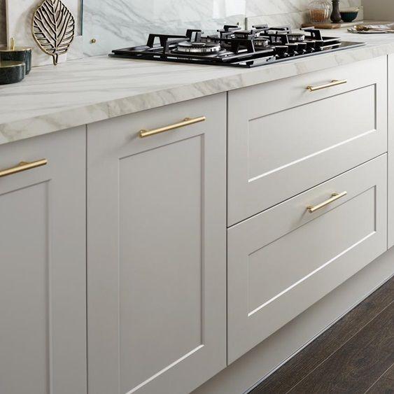 Best This 19Mm Thick Shaker Cabinet Door In Cool Dove Grey Has 400 x 300