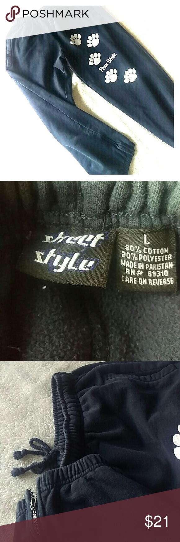 Vintage Penn State paw print sweatpants size large