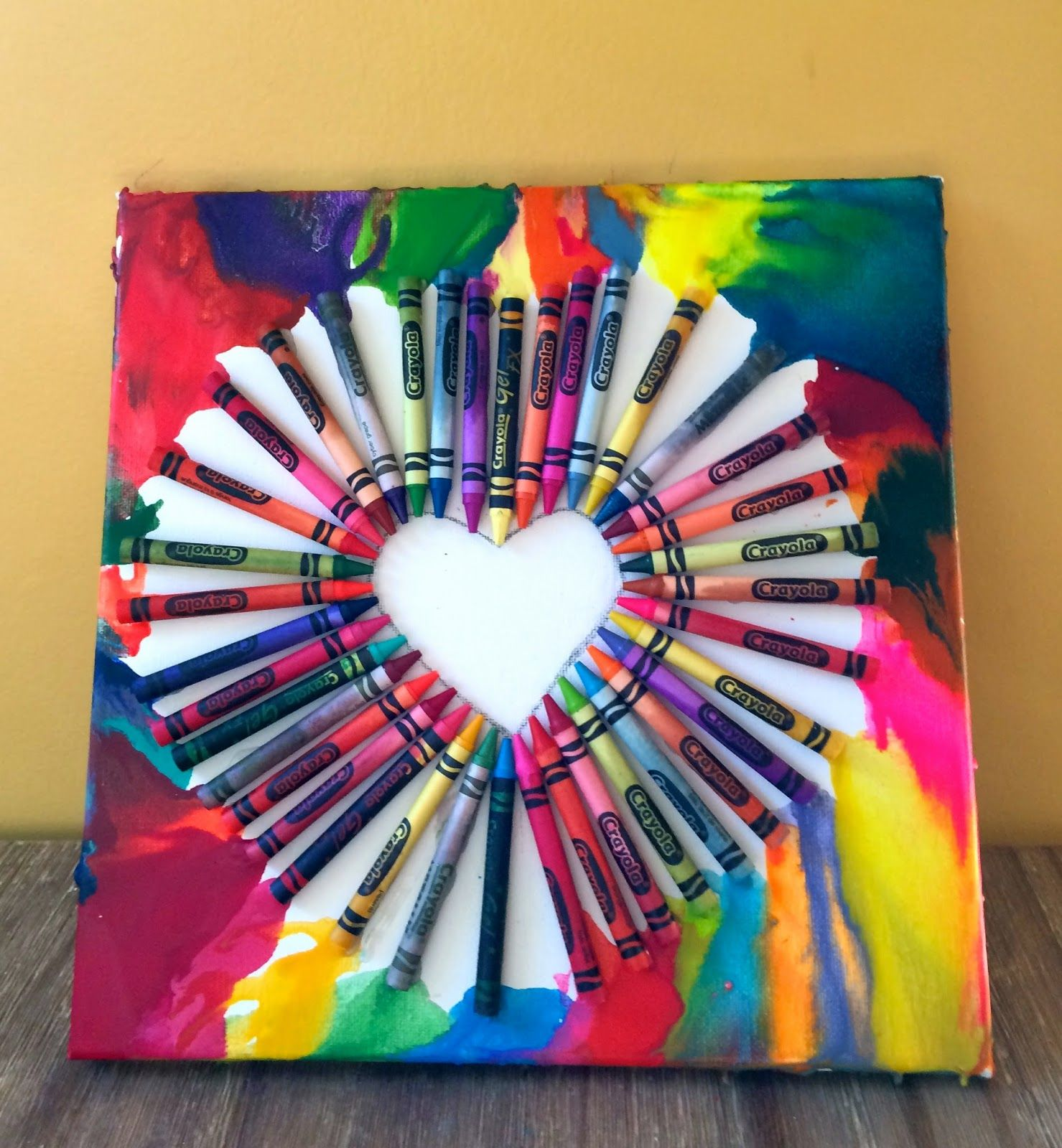 color crayon art : Easy Crayon Art Only Takes 45 Minutes To Make Good For Kids Adults