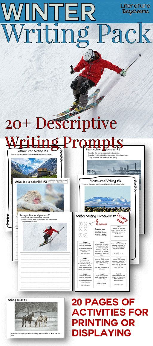 Descriptive Writing Tasks For Winter  Winter Seasonal Activities  A Great Collection Of Winter And Christmas Creative Writing Tasks  Worksheets And Activities To Inspire Challenge And Enjoy