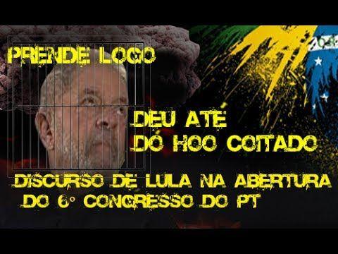 DISCURSO DE LULA NO 6 CONGRESSO, ATACOU BOLSONARO   TADINHO DO LULA DEU ...