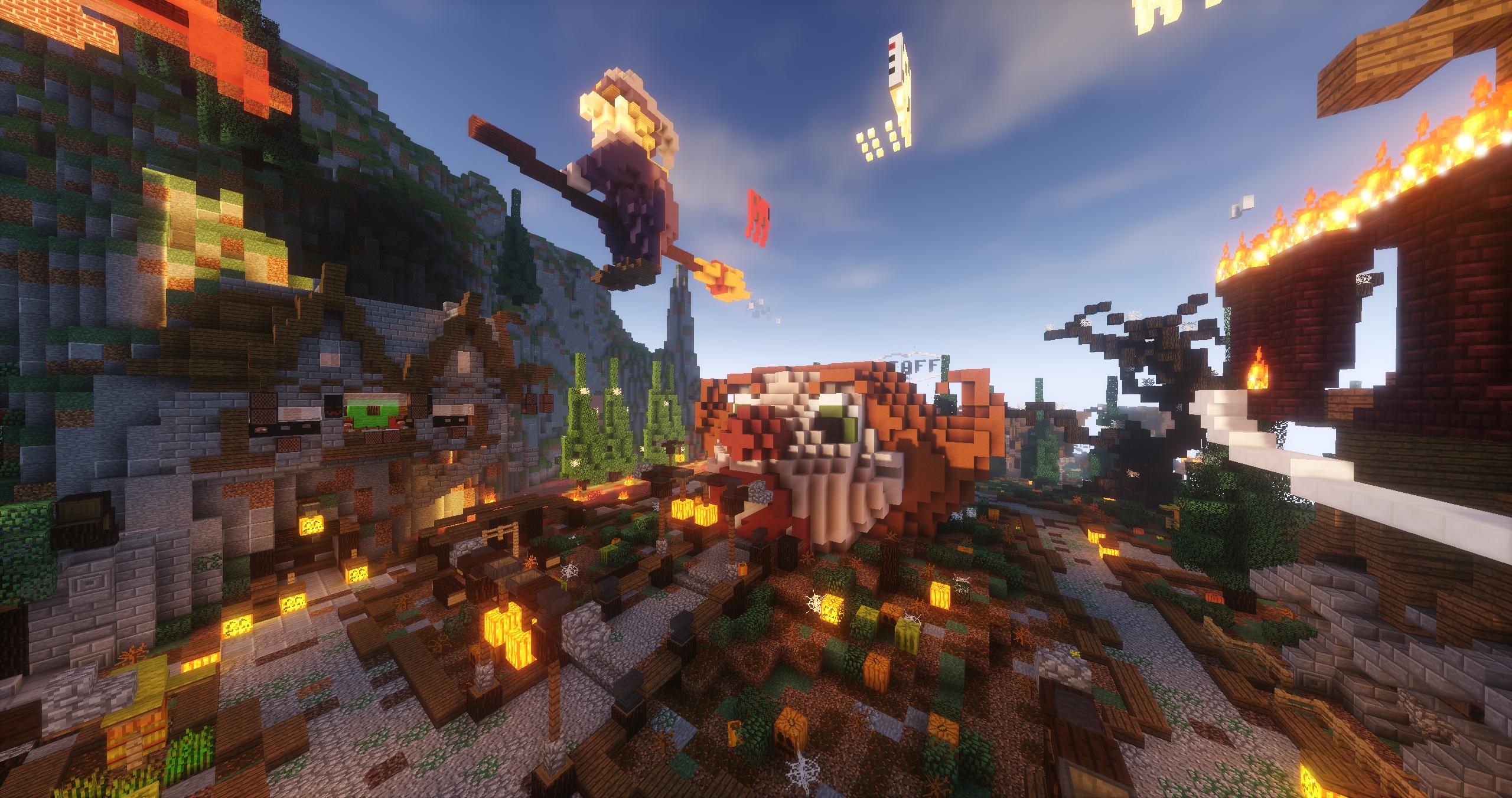 Minecraft Halloween Spawn Minecraft Clown Halloween Hub Lobby - Minecraft spiele lobby