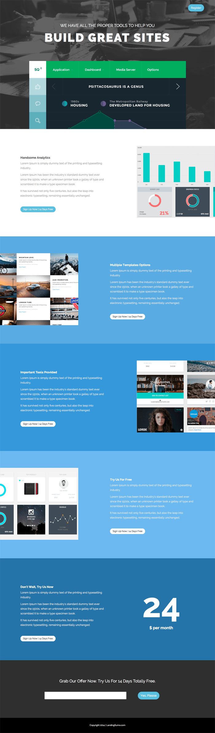 SumoLanding Bootstrap Landing Page Template (With images
