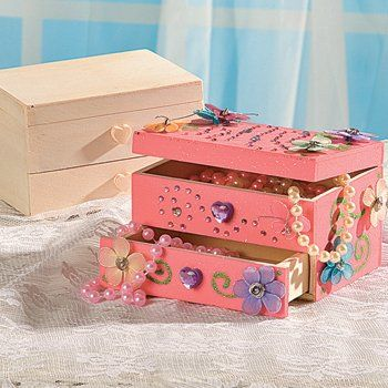 Unfinished Wood Jewelry Box 1 dz Wedding and Events Pinterest