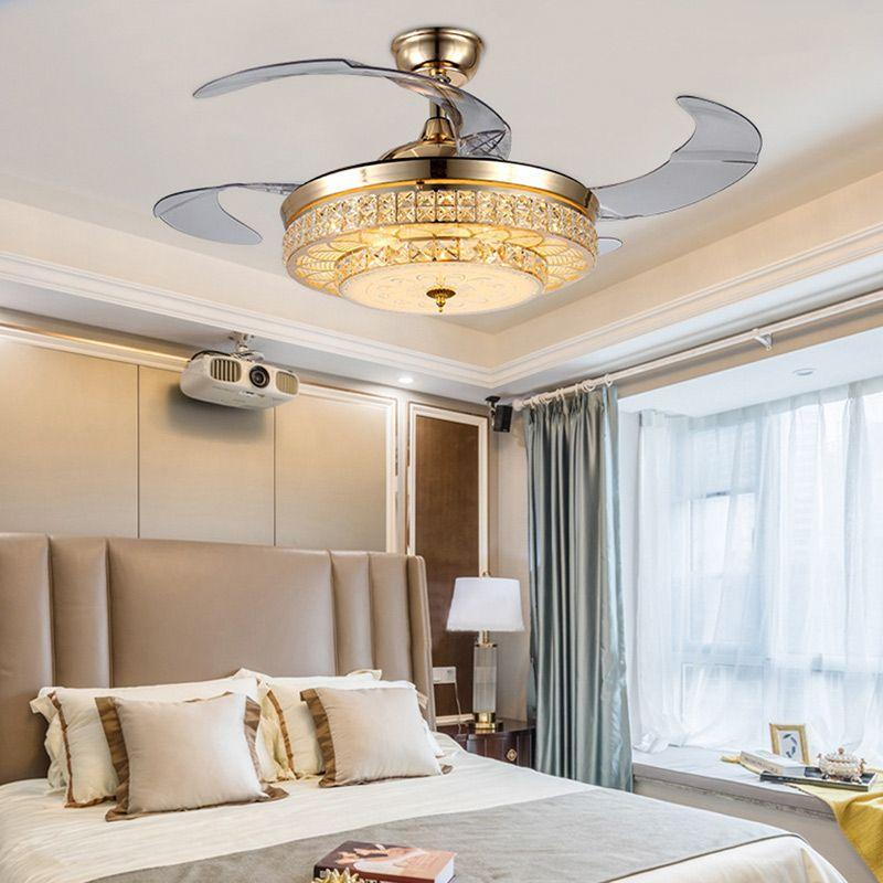 Deckenventilator Mit Led Lampe In Gold Mit Fernbedienung Modern Ceiling Fan Fan Light Ceiling Fan With Light