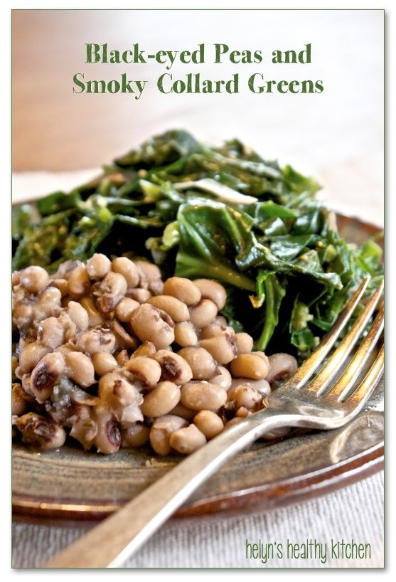 Helyn's Healthy Kitchen - I made a few changes, using what I had (like frozen black eyed peas) and this was a GREAT recipe!  I served it with my GF Sante Fe Chile Bread ( http://recreatinghappiness.com/breads/sante-fe-cornbread/ )  and even my kids ate some of the collard greens!  My husband and I happily had seconds.  Great recipe.