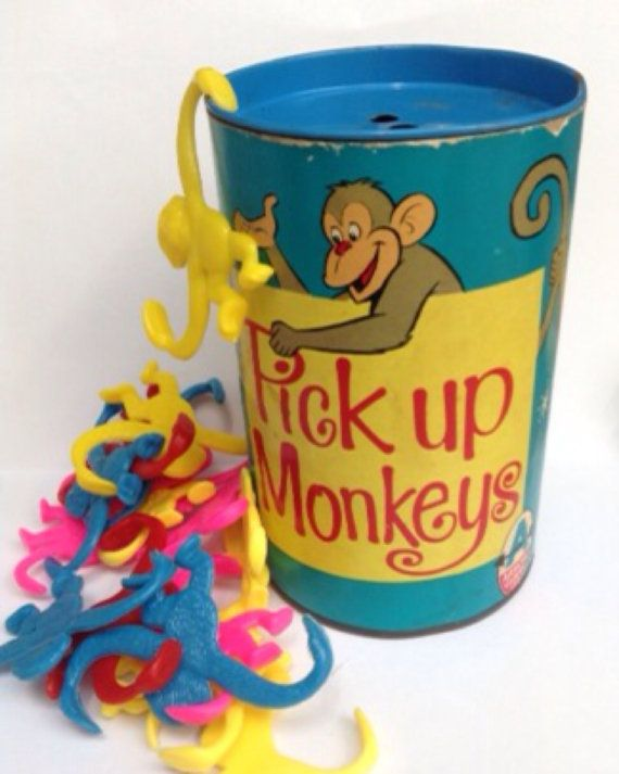 Pick Up Monkeys Retro Vintage Game by libertygrace0 on Etsy, £5.00