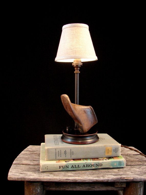 Table Lamp Upcycled Vintage Toddler Shoe Last door BenclifDesigns ...