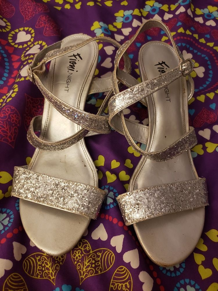 f561f3ed295 Fioni Night Laney Silver Glitter Heels Size 8.5  fashion  clothing  shoes   accessories