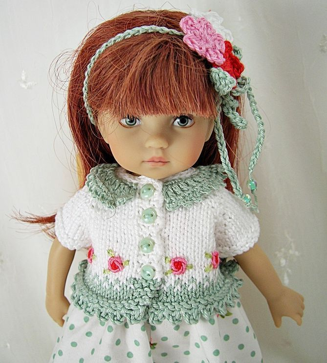 """Outfit for Dianna Effner Boneka 10"""" Doll by Ulla, Dots n Roses #Unbranded"""