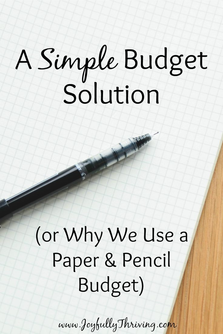 A Simple Budget Solution  Budgeting