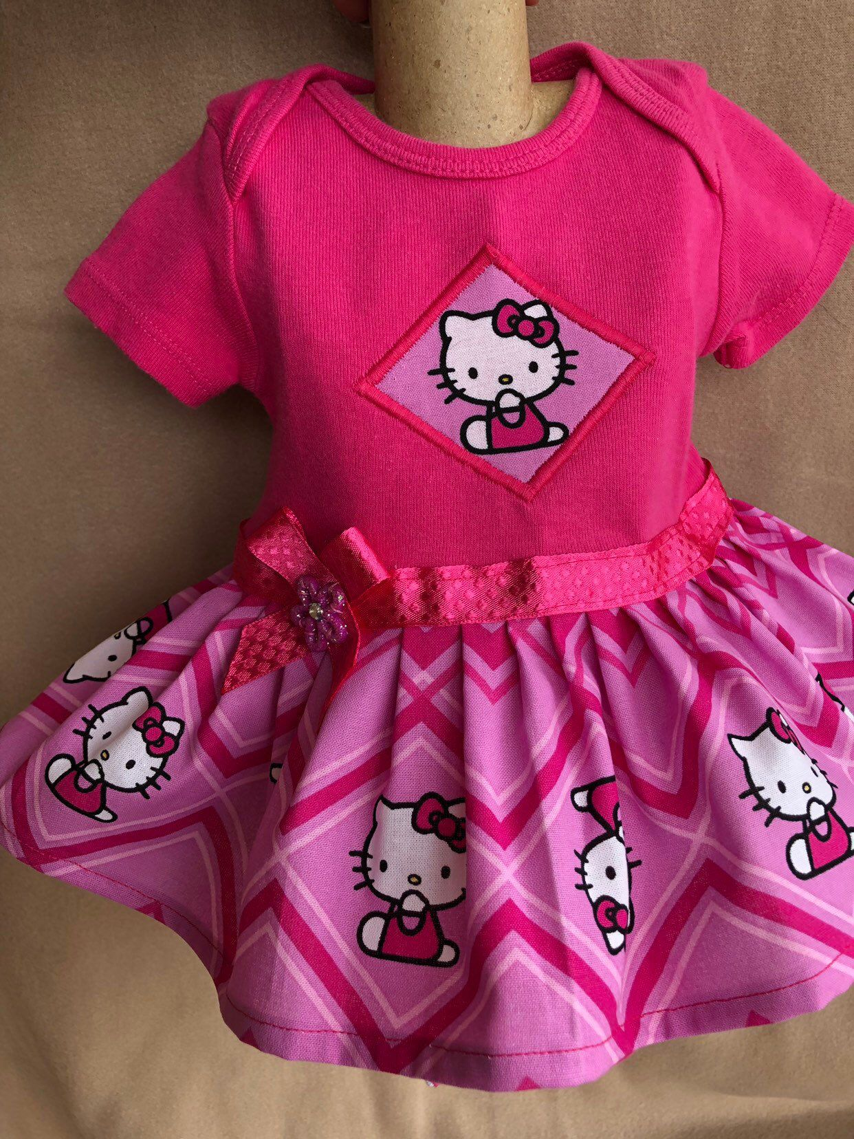 a087efb76 Excited to share the latest addition to my #etsy shop: 3-6 months girls  onesie dresses/ onesie ruffle dress/ Hello Kitty onesie/ Hello Kitty ruffle  akirt ...