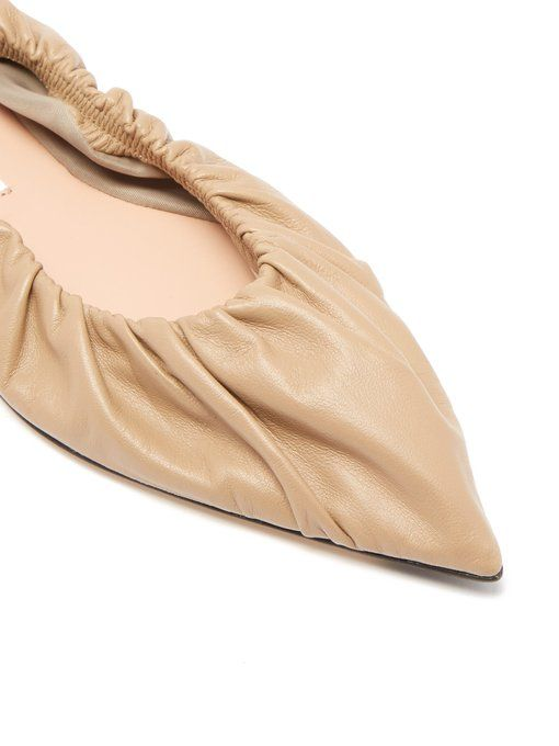 97b65fc95 Acne Studios Babette gathered leather flats | Accoutrements in 2019 ...