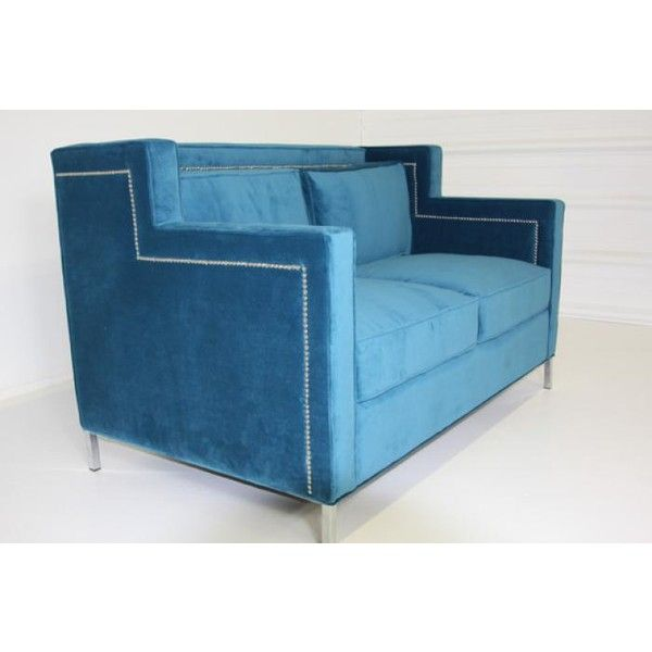 www roomservicestore com beverly hills loveseat in electric blue