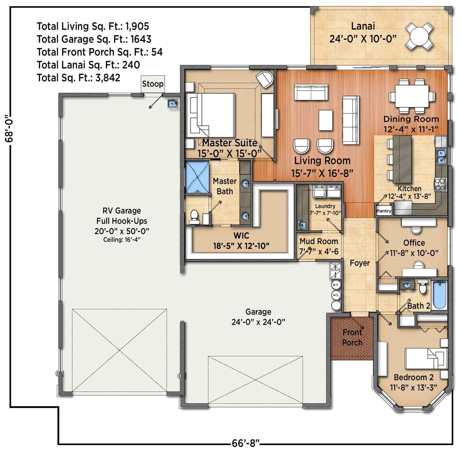 Rv Garage With Living Quarters: House Plans With RV Garage In 2019