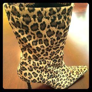 fioni leopard boots
