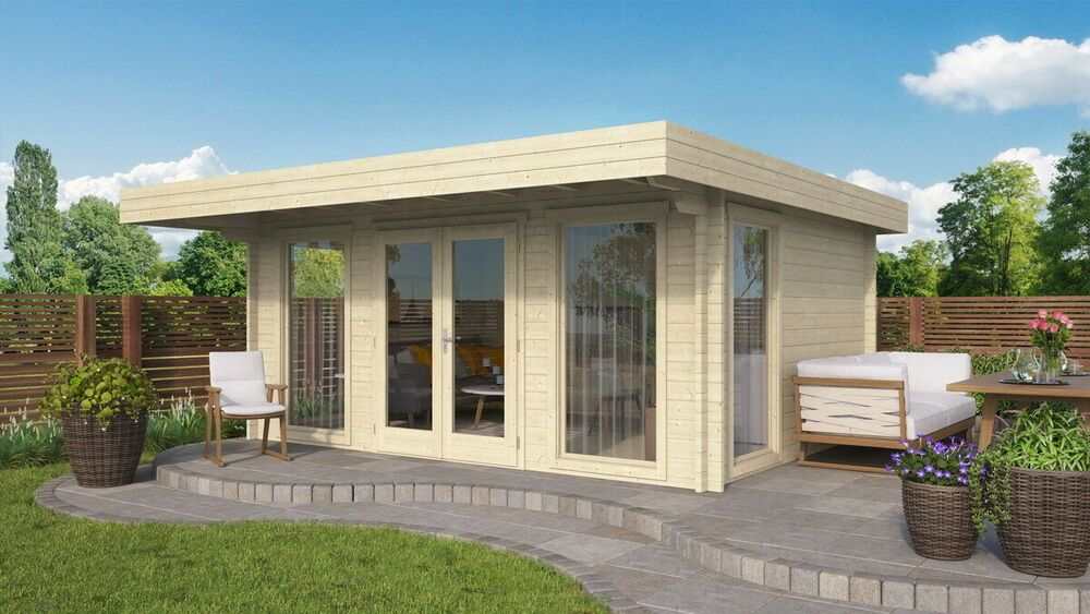 Details zu Gartenhaus YVONNE PREMIUM; 500x380 cm ISO