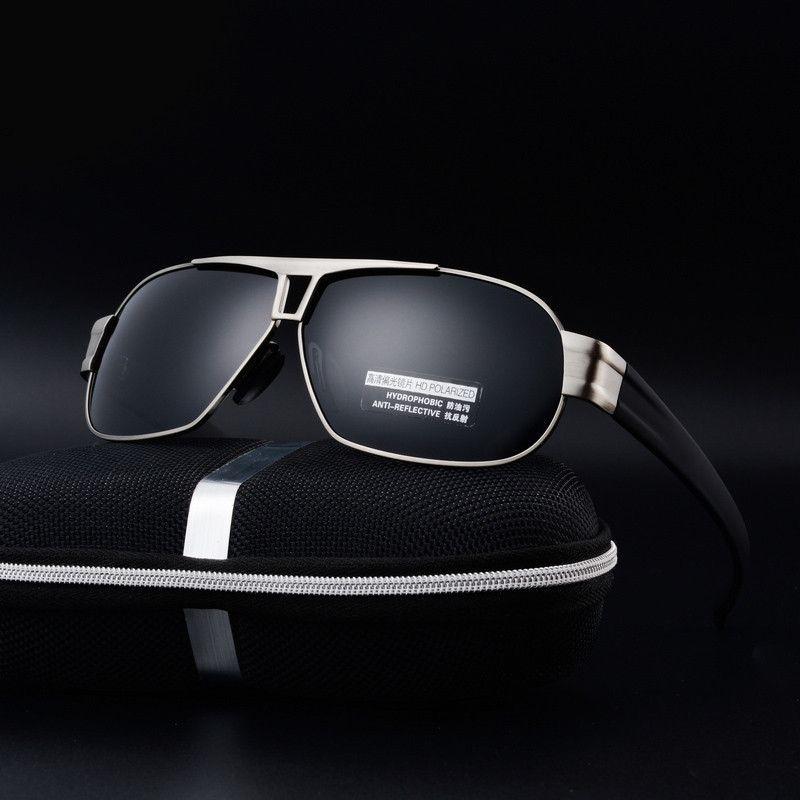 Polarized Sunglasses Men Sport Polaroid Sun Glasses For Driving Outdoor Goggles Rectangle UV