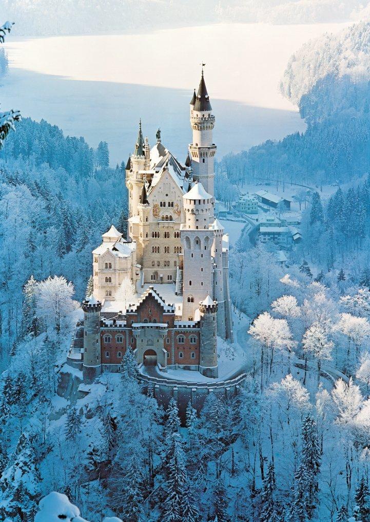 Schloss Neuschwanstein Im Winter 1500 Teile Ravensburger Puzzle Online Kaufen Fantasieschloss Schloss Neuschwanstein Deutschland Burgen