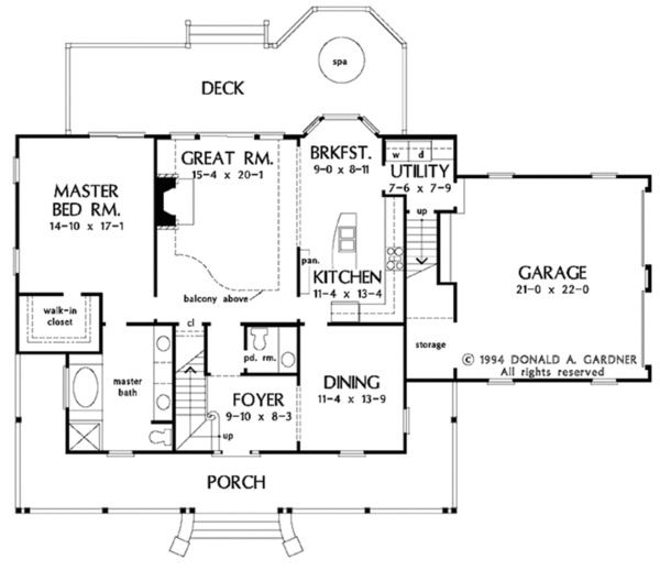 Country Style House Plan 4 Beds 2 5