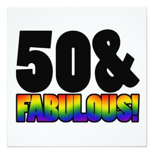 Fabulous Gay 50th Birthday Card All Shop Sales – Gay Happy Birthday Card