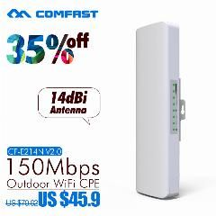 22% OFF ] Comfast Cf-E214N 150Mbps High Power Outdoor Wireless Ap