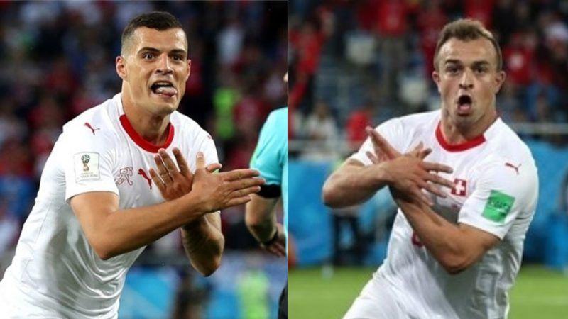 Shqiptaret Rrahin Serbine Ne Boteror Xhaka Dhe Shaqiri Valevisin Shqiponjen Dy Krenare Serbia Goal Celebration Fifa