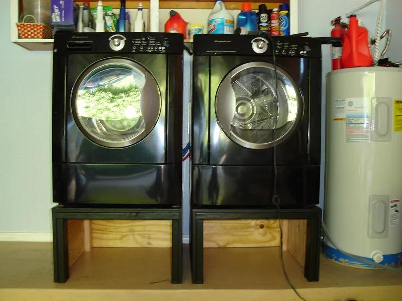 Washing Machine And Dryer Pedestal Stand A Diy Happiness Met Afbeeldingen Interieur Ideeen