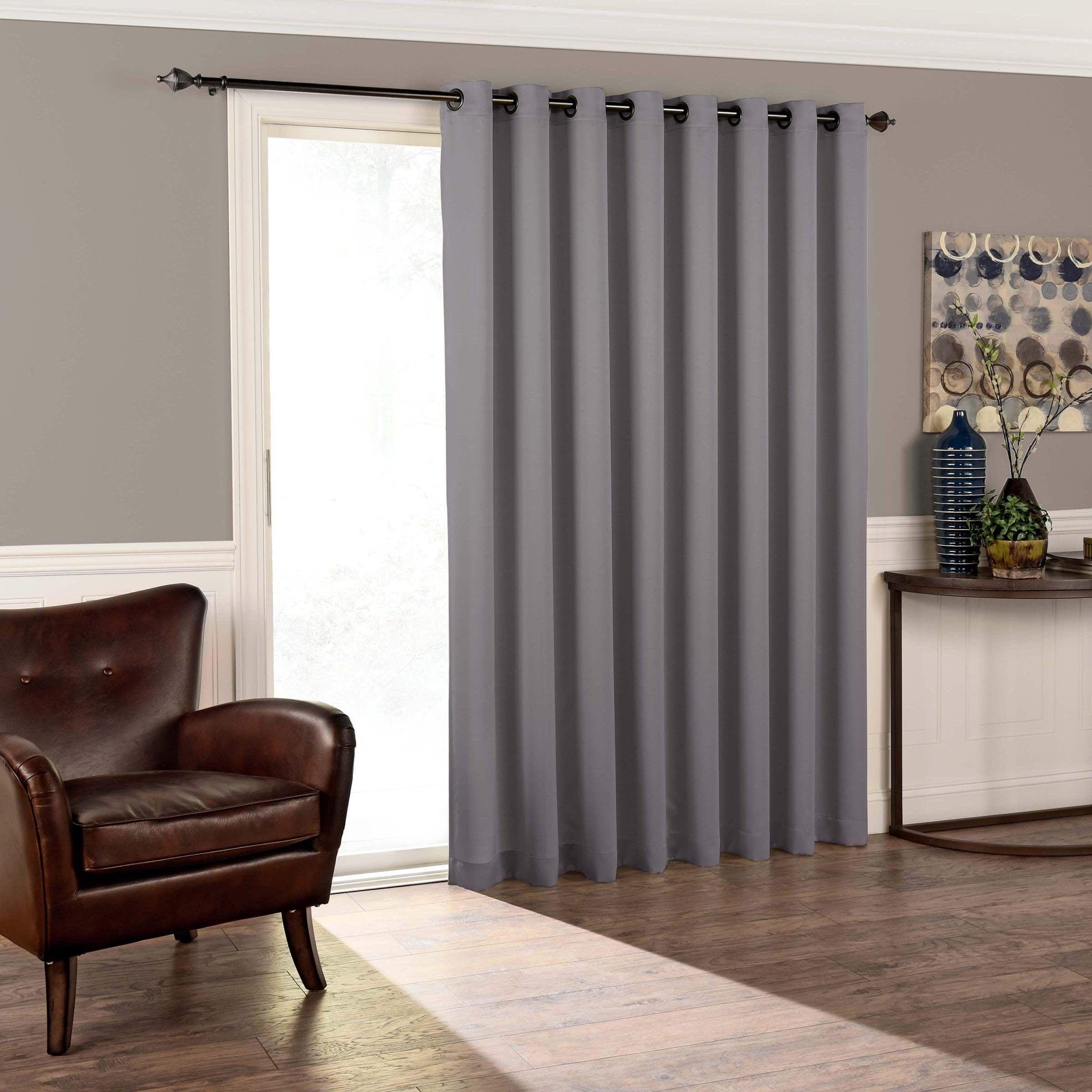 Eclipse Tricia RoomDarkening Patio Door Panel x Espresso
