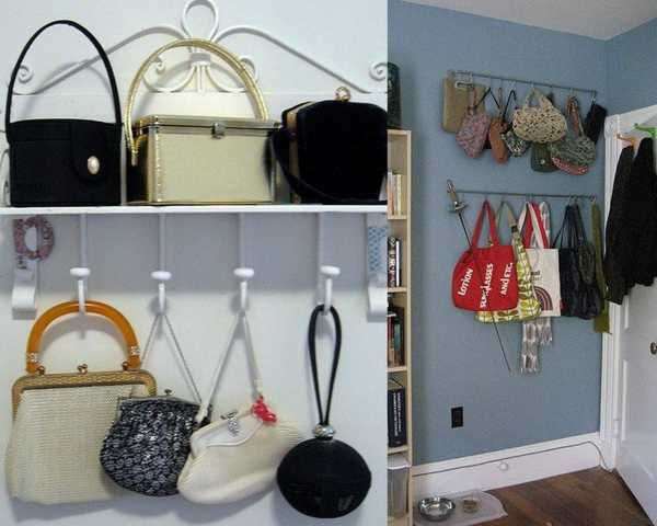Wall Hanging Handbag Storage Solutions And Home Organizers For Small Spaces Purse Organization Storage Purse Storage Diy Purse