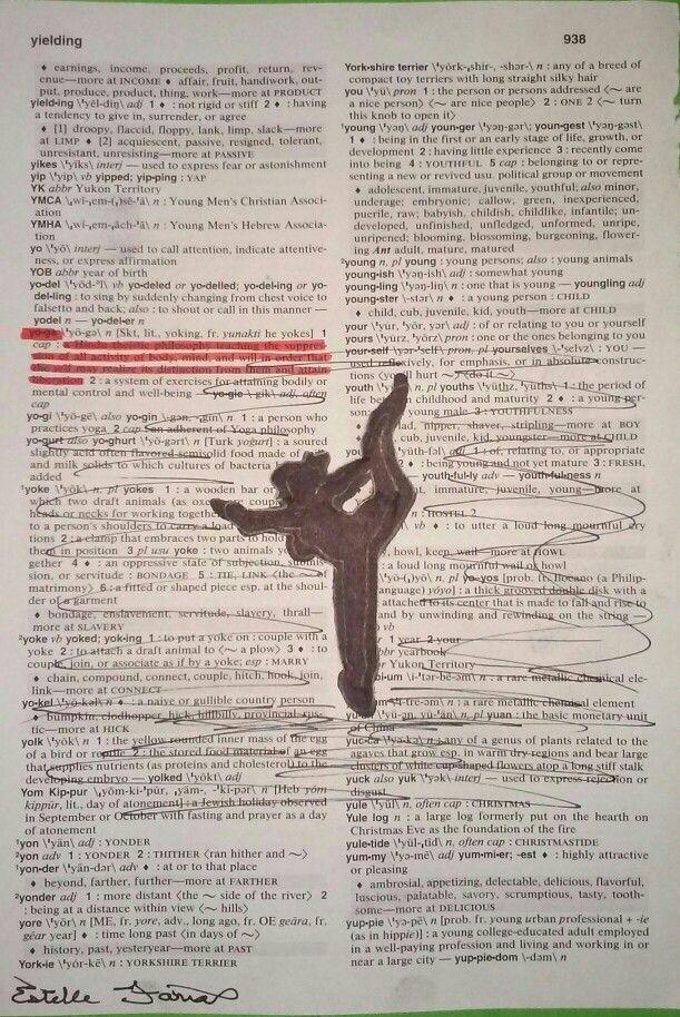 Dictionary art: Yoga