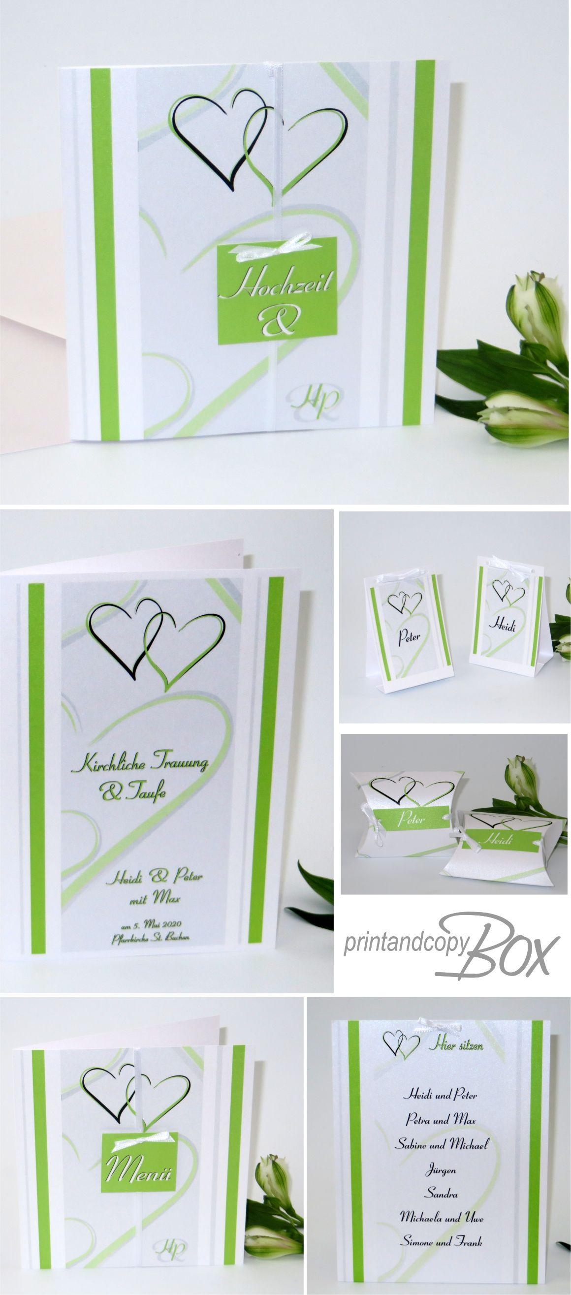 Einladungen Zur Traufe Deko Und Accessoires Mit Einem Trendy Design In Grun Besonders Und Modern Hochz Karte Hochzeit Einladungskarten Hochzeit Einladungen