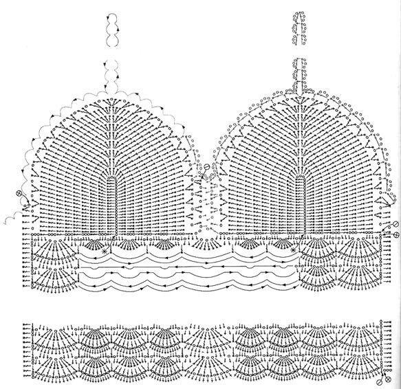 Top de crochê com gráfico | Stitch | Pinterest | Tejido, Ganchillo y ...