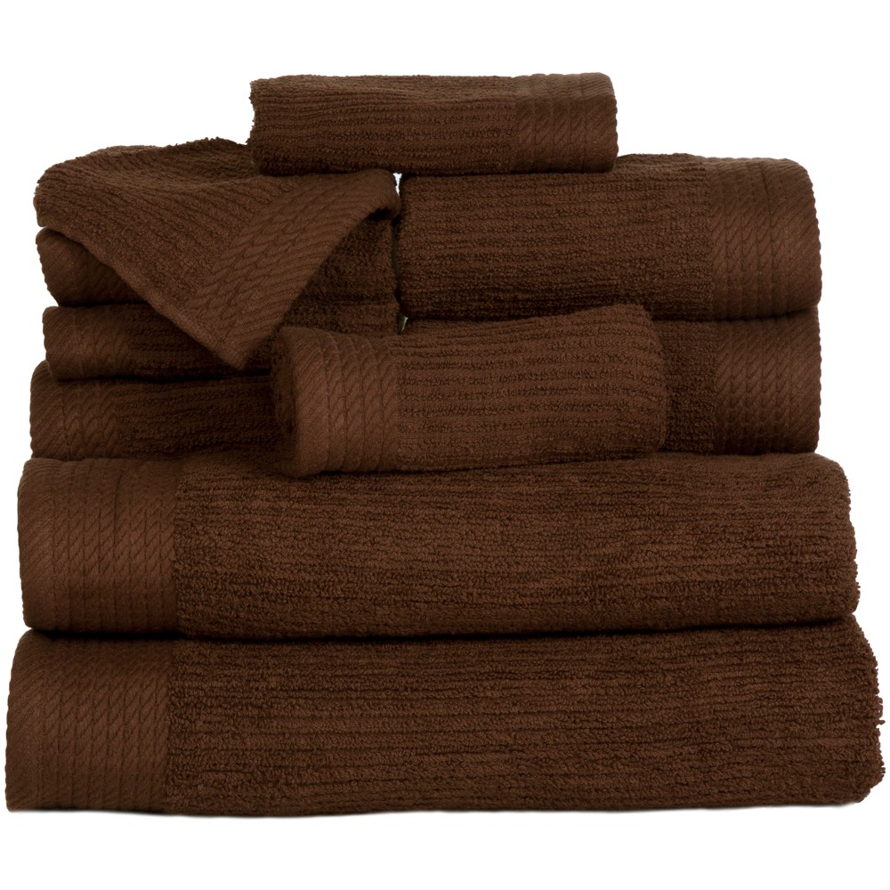 Decorative Bath Towel Sets Solid Bath Towels And Washcloths 10Pc Chocolate Brown  Yorkshire