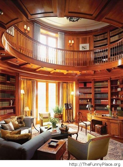 Awesome Library Funny Pictures Awesome Pictures Funny Images And Pics Dream House My Dream Home Home Libraries