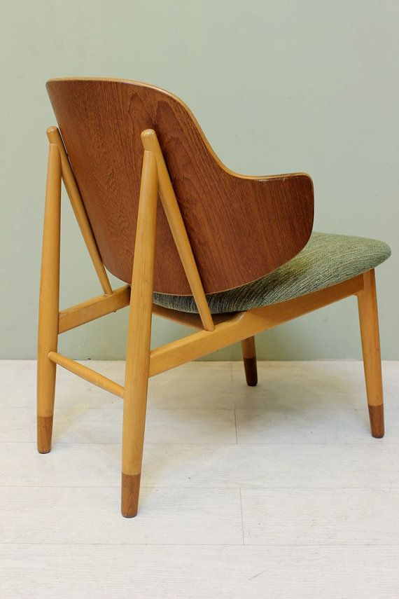 ib kofod larsen bent plywood chair mid century modern danish teak lounge chair - Mid Century Modern Furniture Of The 1950s