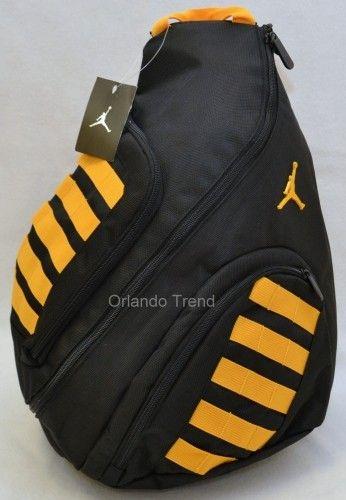 Nike Air Jordan Black and Yellow Sling Backpack for Men eca10140770ff