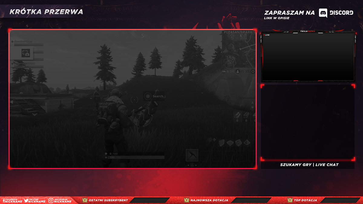 Free Twitch Overlay Template 2018 2 On Behance Overlays Transparent Overlays Twitch