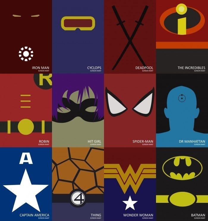 Minimalist Classroom Google ~ Minimalist superheroes geekish pinterest